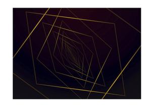 四角の線の幾何学模様パターンのバックグラウンドのイラスト素材 [FYI04952521]