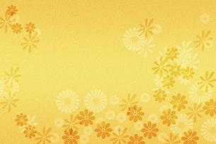 花柄の金箔のイラスト素材 [FYI04952827]