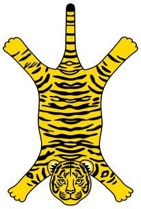 虎の敷物のイラスト【黄色と黒】のイラスト素材 [FYI04952910]