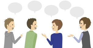 会話をする男性達のイラスト素材 [FYI04952991]