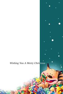 クリスマスカード,リスのクリスマスイブのプレゼントのイラスト素材 [FYI04954006]