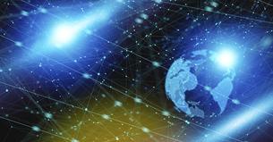地球のテクノロジーイメージ背景グラフィックスのイラスト素材 [FYI04956451]
