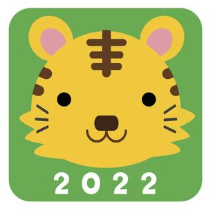 2022寅年アイコン01【カラー】のイラスト素材 [FYI04957314]
