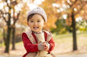 公園で遊ぶ赤ちゃんの写真素材 [FYI04959338]