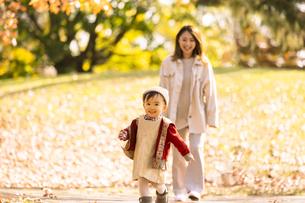 公園で遊ぶ親子の写真素材 [FYI04959356]