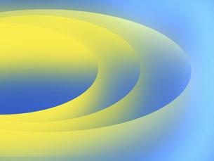 青色と黄色のグラデーションの複数の環の抽象模様のイラスト素材 [FYI04959987]