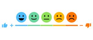 感情を表すバロメーターのイラストレーションのイラスト素材 [FYI04962912]